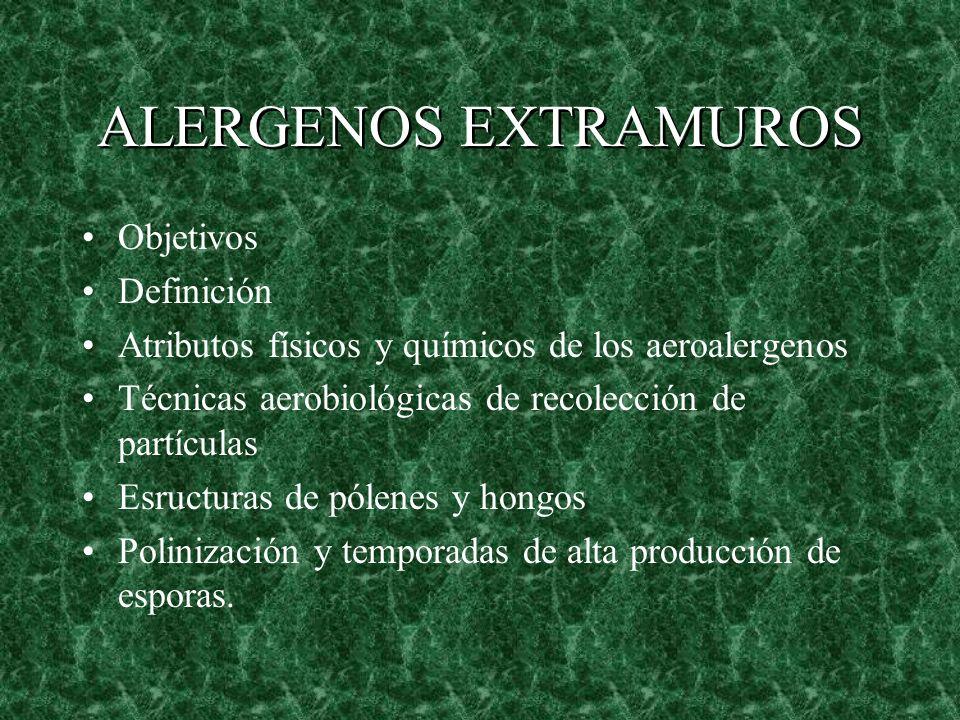 ALERGENOS EXTRAMUROS Objetivos Definición