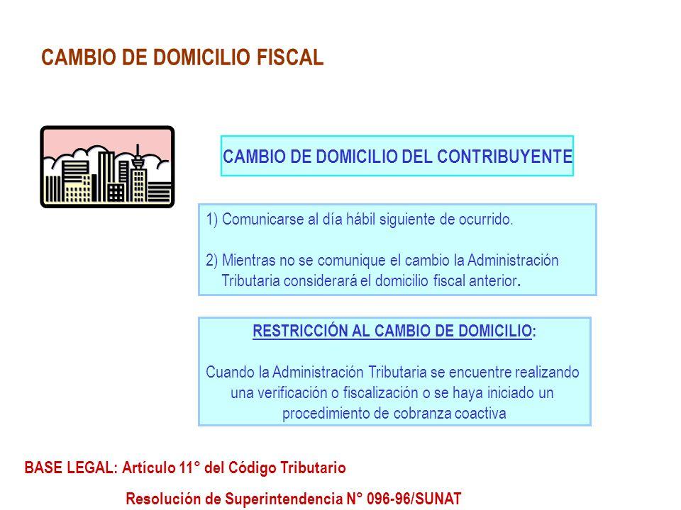 CAMBIO DE DOMICILIO FISCAL
