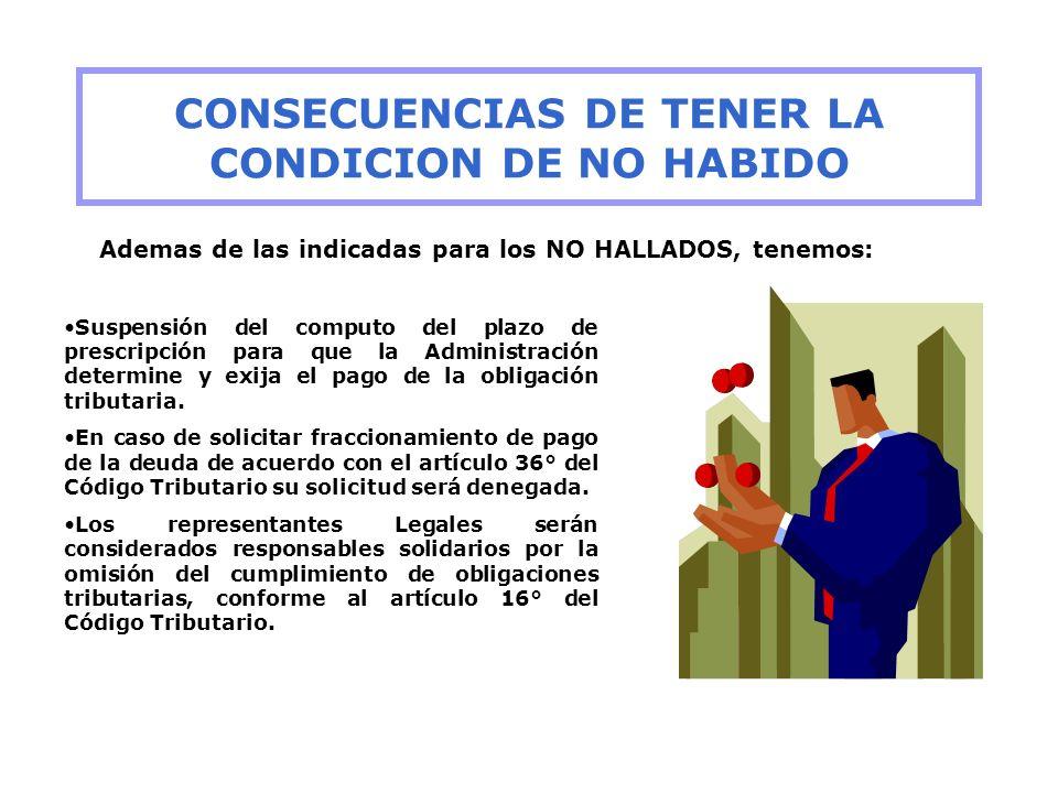 CONSECUENCIAS DE TENER LA CONDICION DE NO HABIDO
