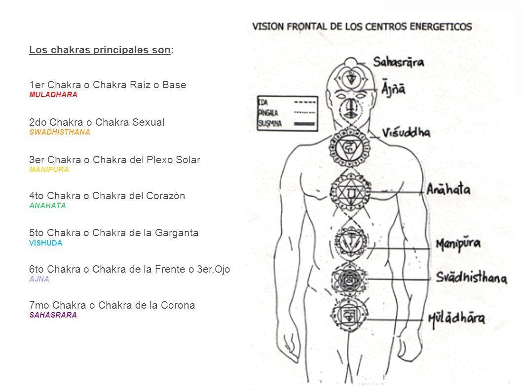 Los chakras principales son: