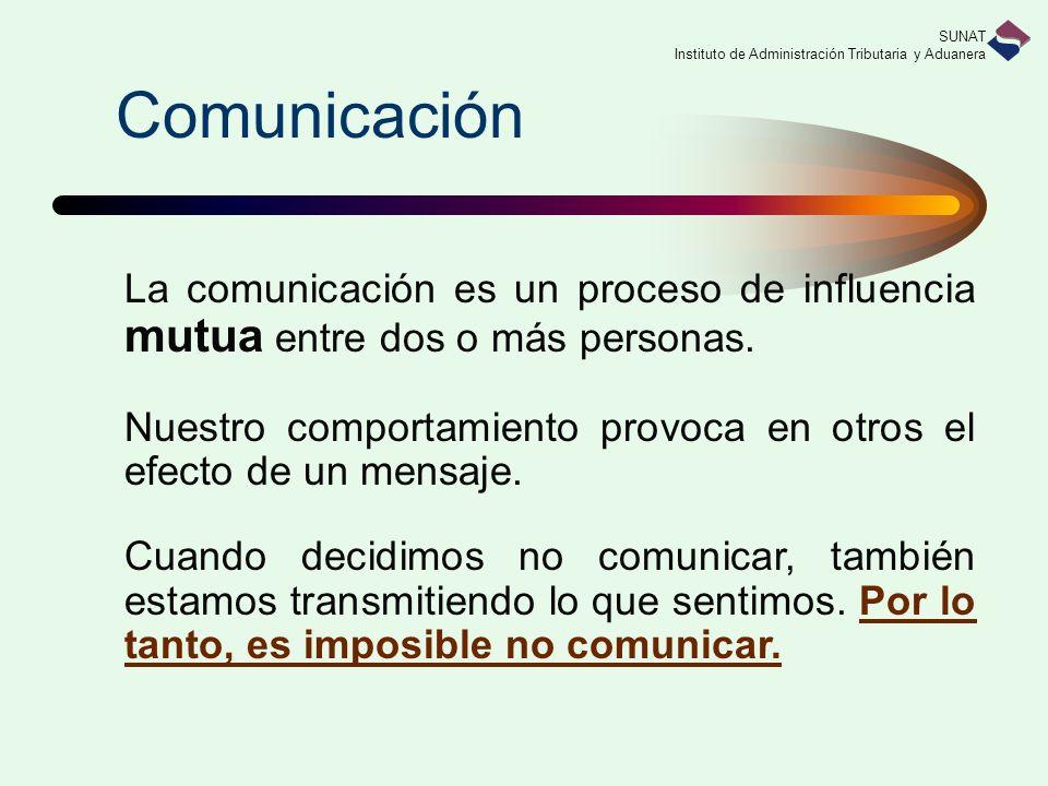 Comunicación La comunicación es un proceso de influencia mutua entre dos o más personas.