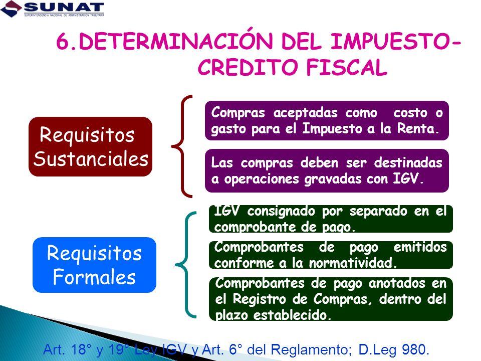 6.DETERMINACIÓN DEL IMPUESTO- CREDITO FISCAL