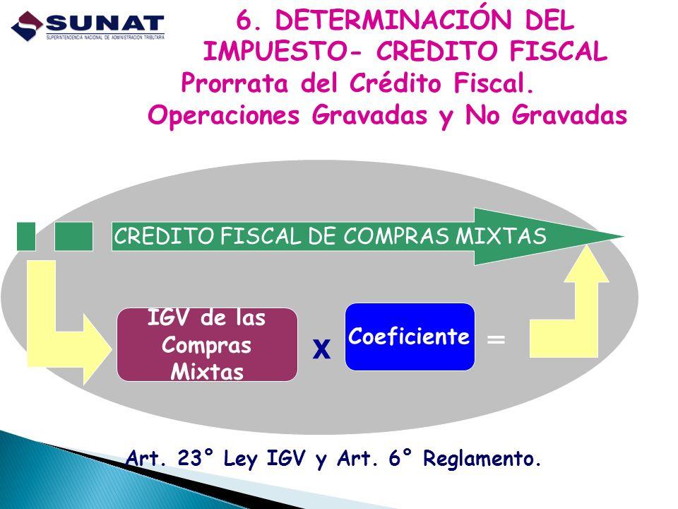 6. DETERMINACIÓN DEL IMPUESTO- CREDITO FISCAL