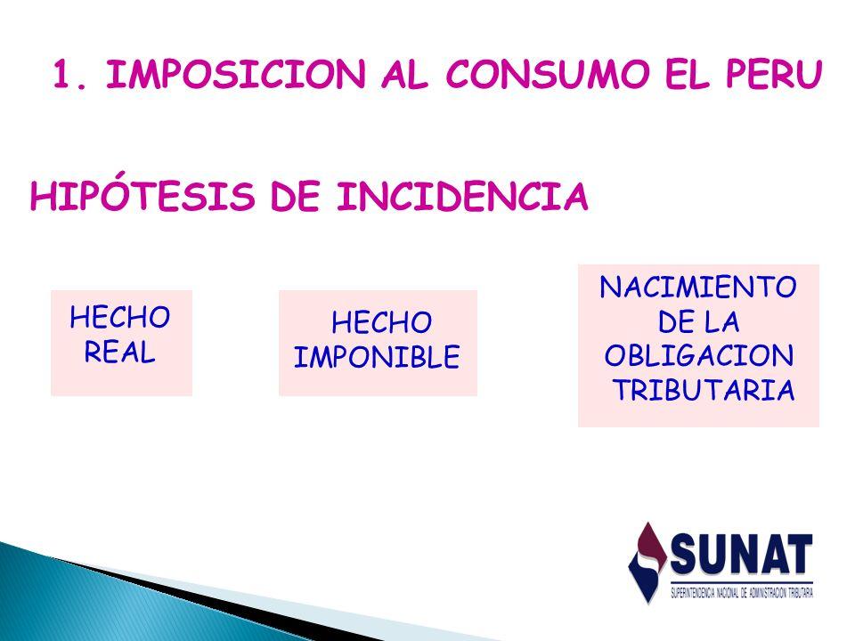 1. IMPOSICION AL CONSUMO EL PERU