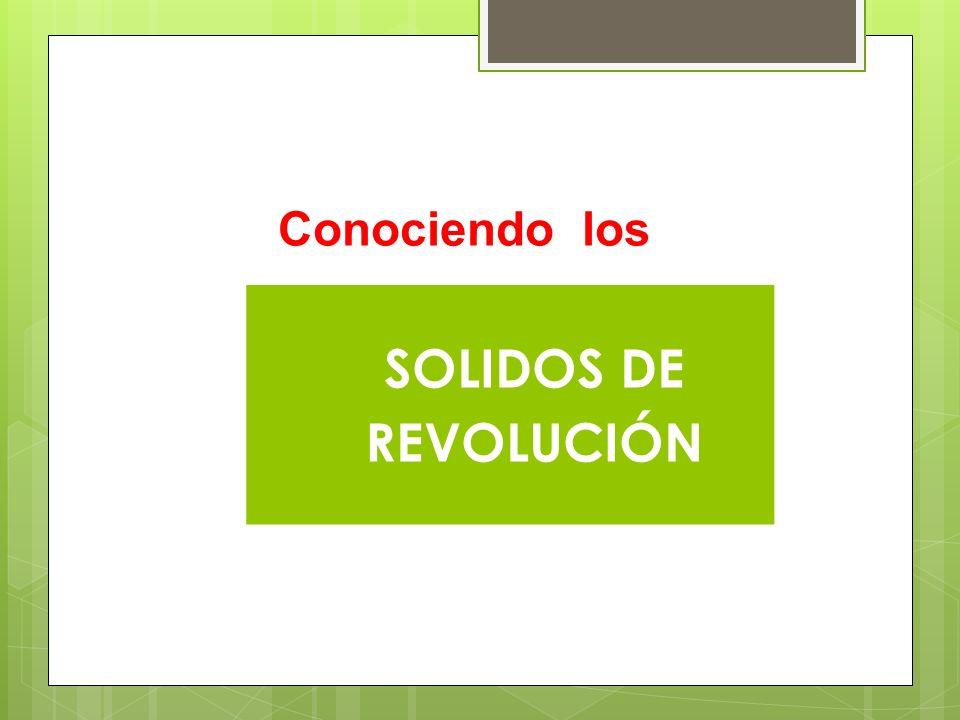 Conociendo los SOLIDOS DE REVOLUCIÓN