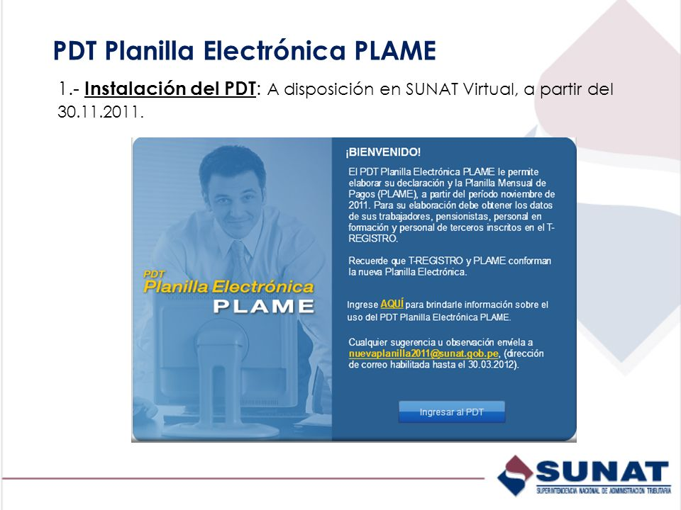PDT Planilla Electrónica PLAME