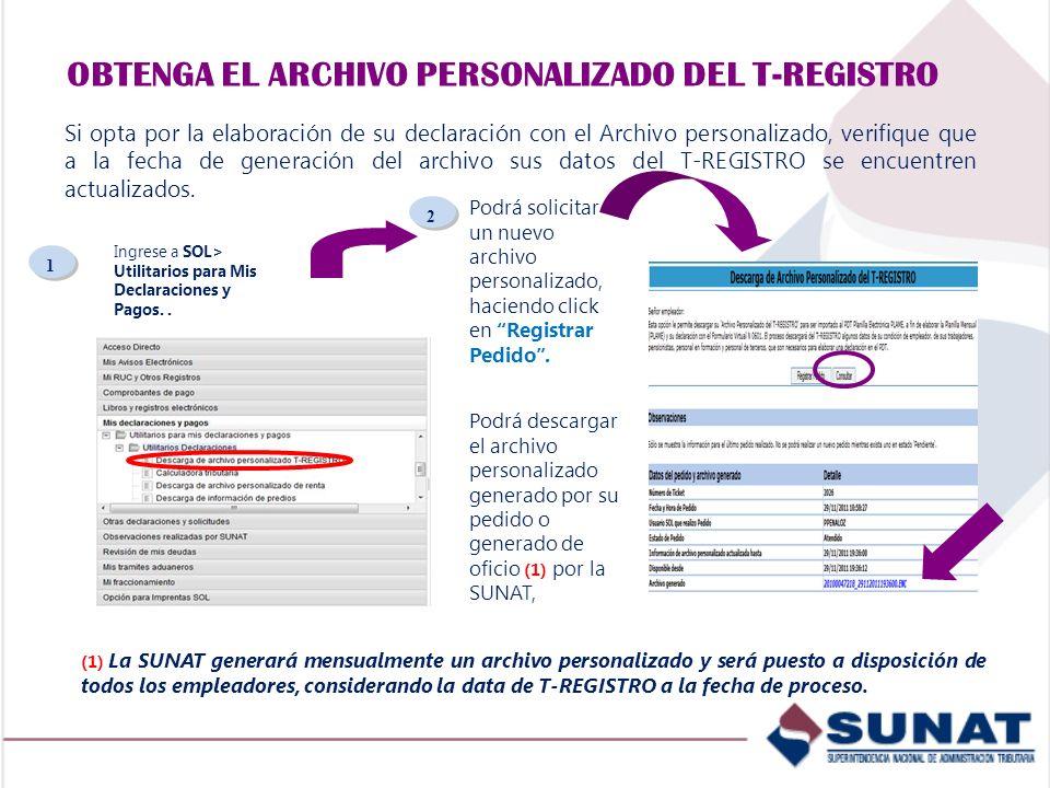 OBTENGA EL ARCHIVO PERSONALIZADO DEL T-REGISTRO