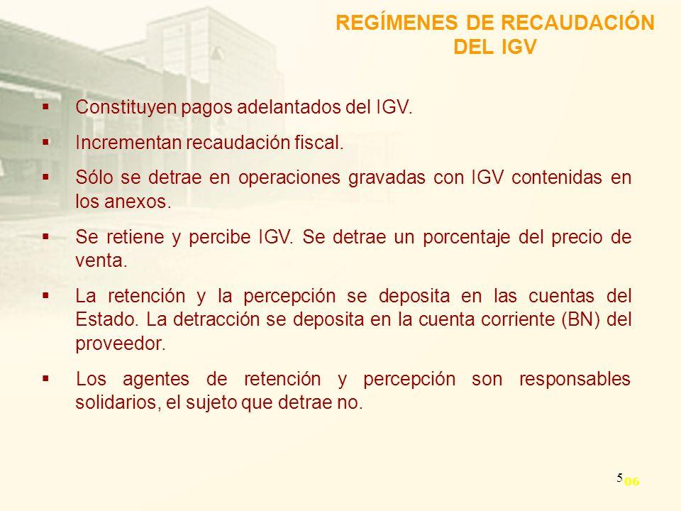 REGÍMENES DE RECAUDACIÓN DEL IGV