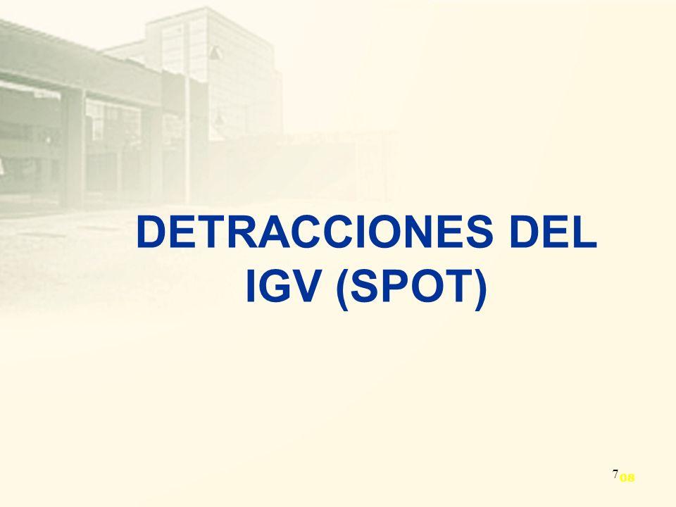 DETRACCIONES DEL IGV (SPOT)