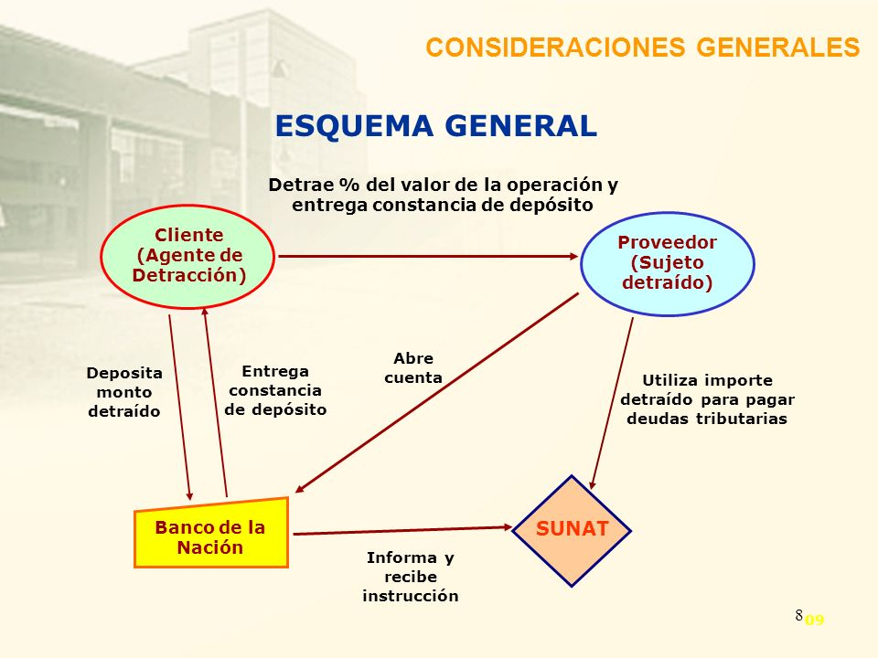 ESQUEMA GENERAL CONSIDERACIONES GENERALES SUNAT