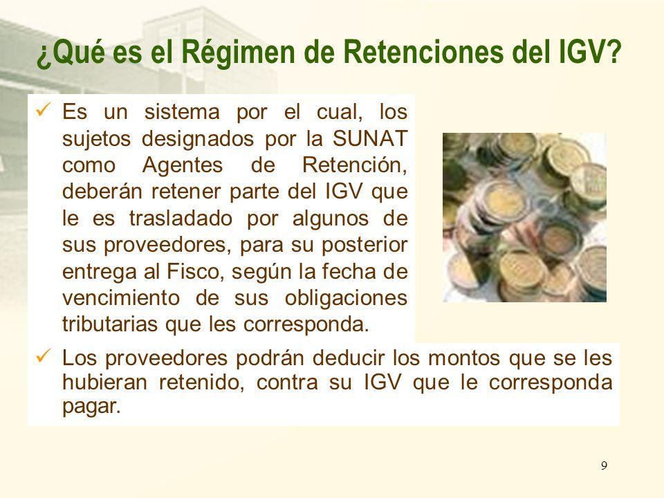 ¿Qué es el Régimen de Retenciones del IGV