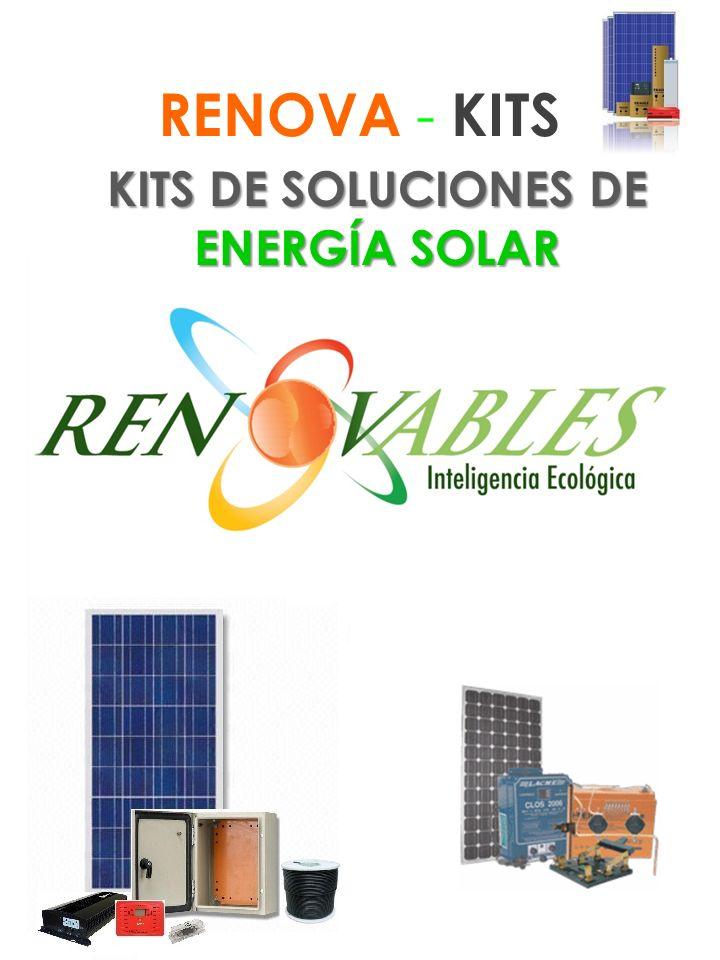 KITS DE SOLUCIONES DE ENERGÍA SOLAR