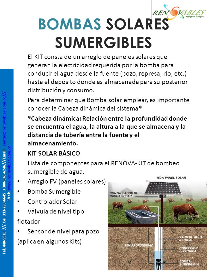 BOMBAS SOLARES SUMERGIBLES