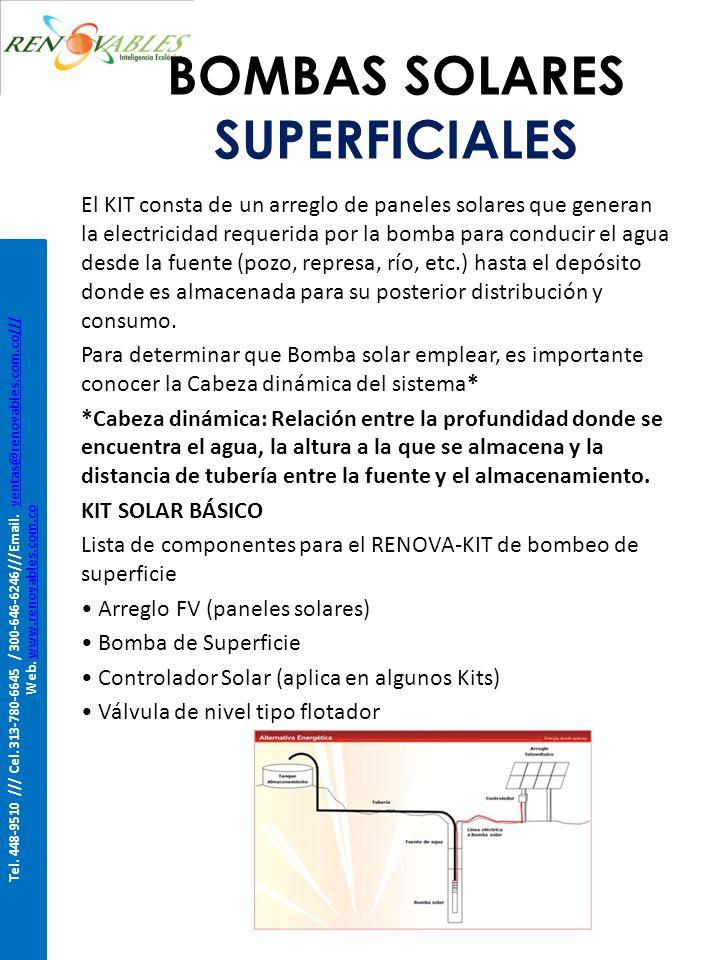 BOMBAS SOLARES SUPERFICIALES