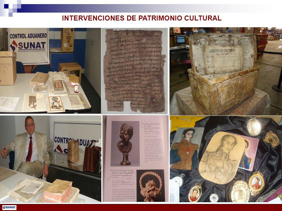INTERVENCIONES DE PATRIMONIO CULTURAL
