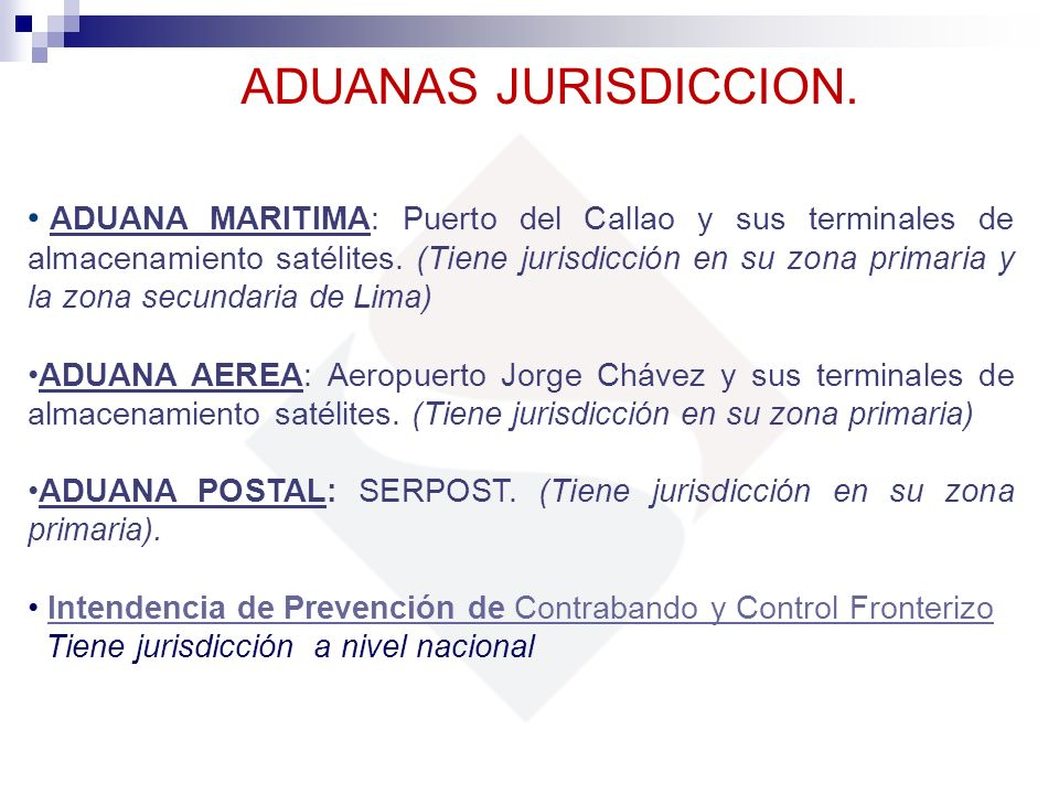 ADUANAS JURISDICCION.