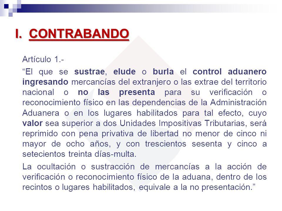 I. CONTRABANDO