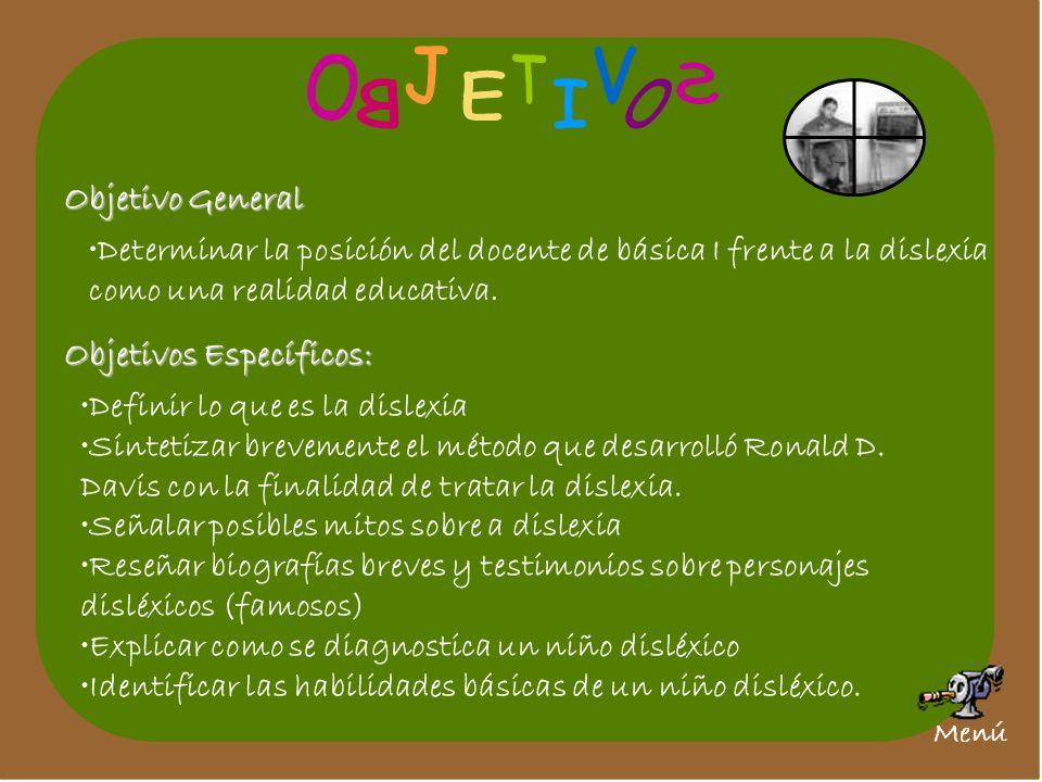J V O T S E B I O Objetivo General Objetivos Específicos: