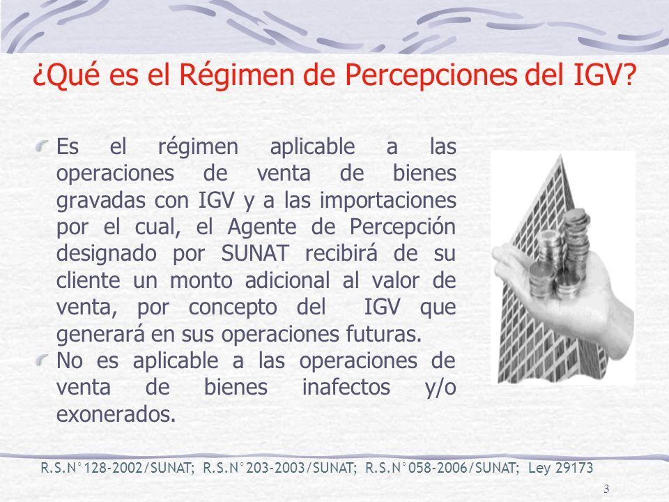 ¿Qué es el Régimen de Percepciones del IGV