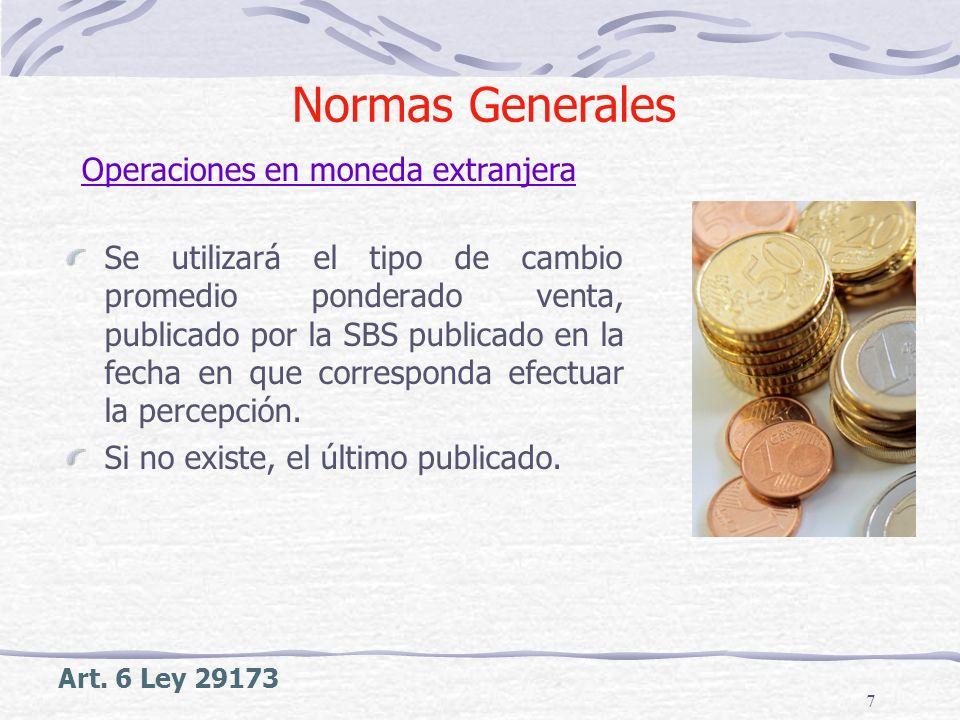 Normas Generales Operaciones en moneda extranjera