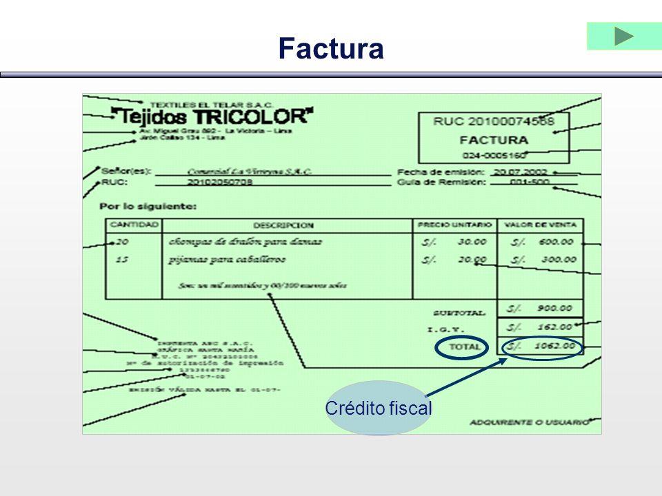 Factura Crédito fiscal
