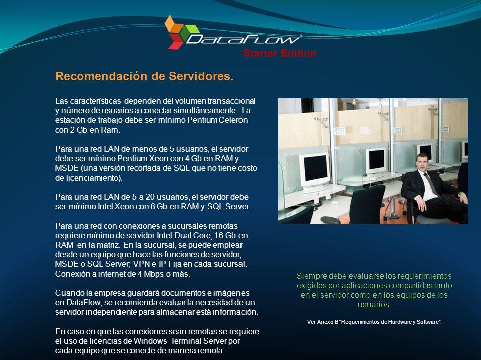 Ver Anexo B Requerimientos de Hardware y Software .