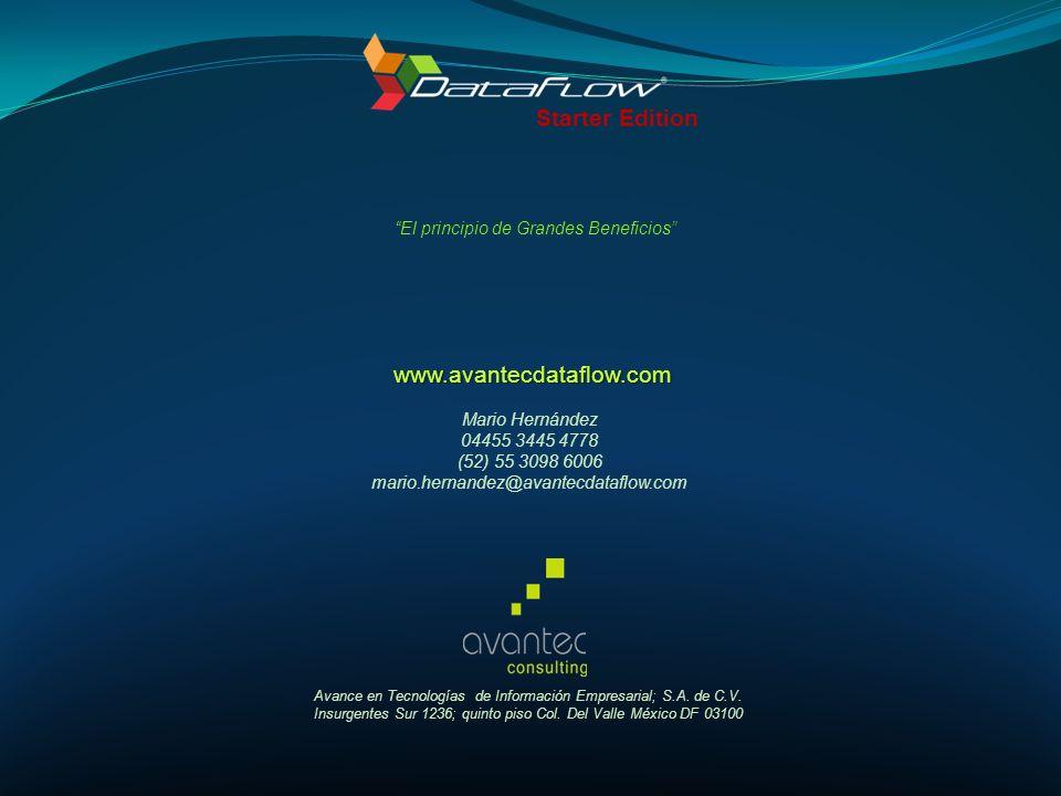Starter Edition www.avantecdataflow.com
