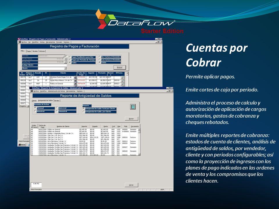 Cuentas por Cobrar Starter Edition Permite aplicar pagos.