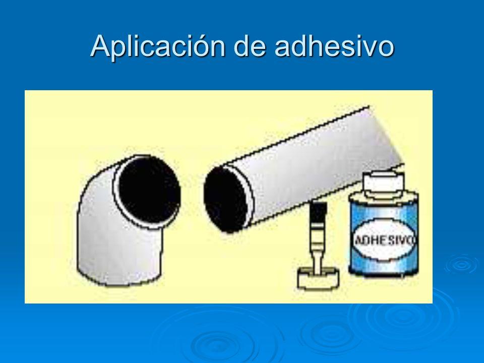 Aplicación de adhesivo