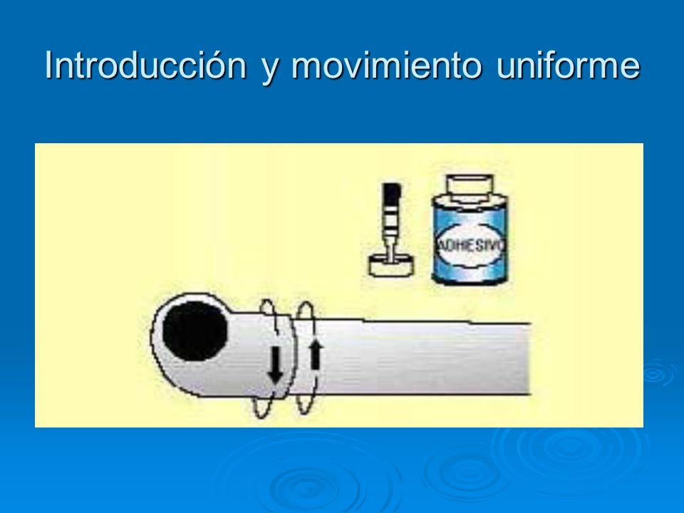 Introducción y movimiento uniforme