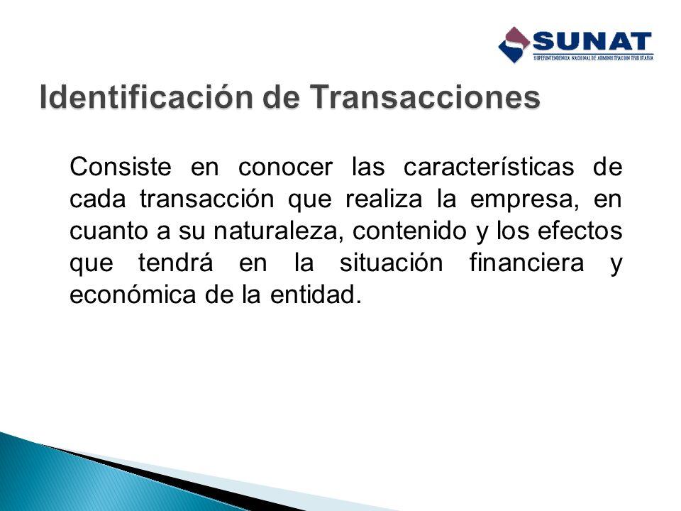 Identificación de Transacciones