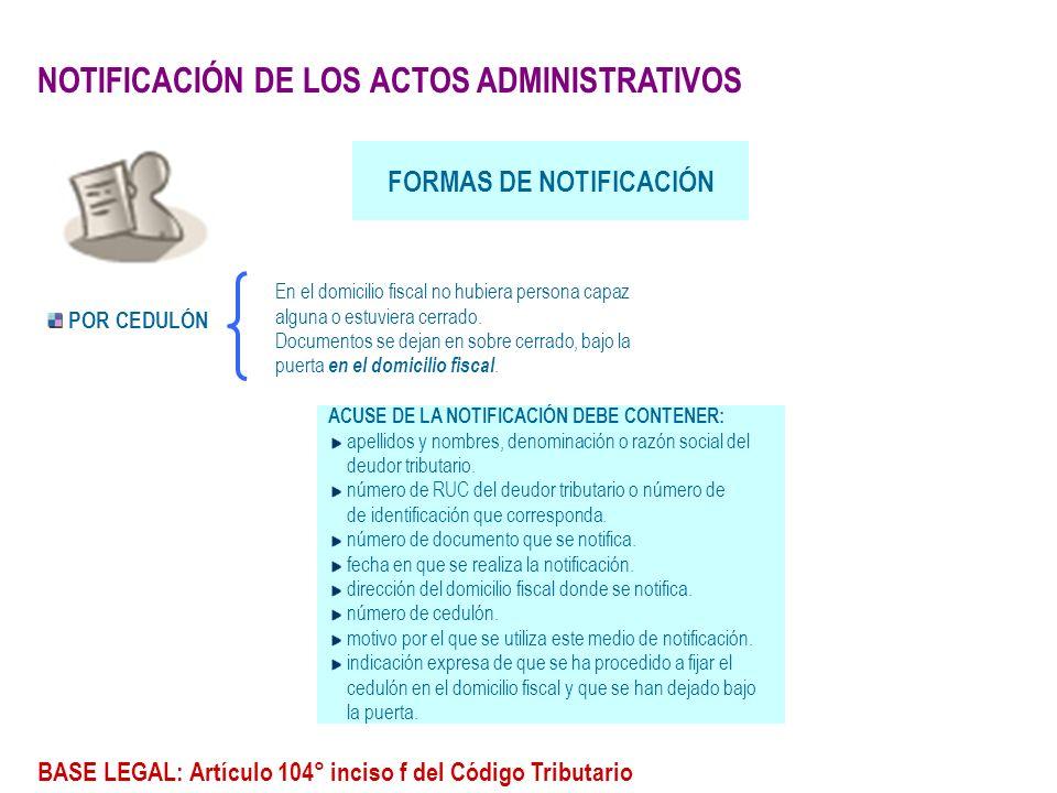 FORMAS DE NOTIFICACIÓN