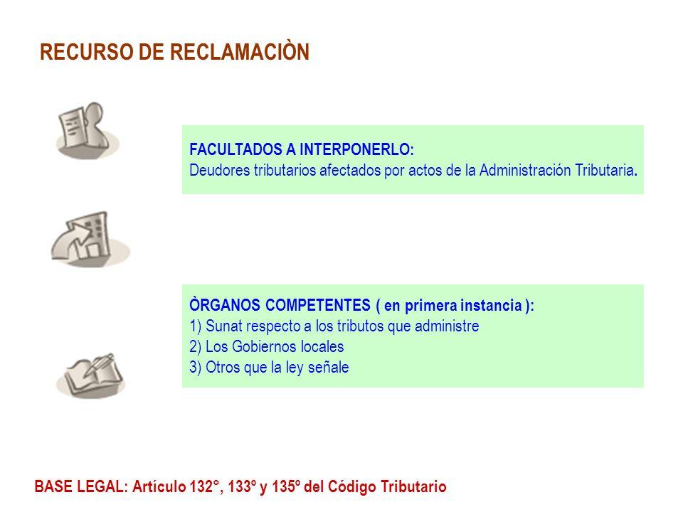 RECURSO DE RECLAMACIÒN