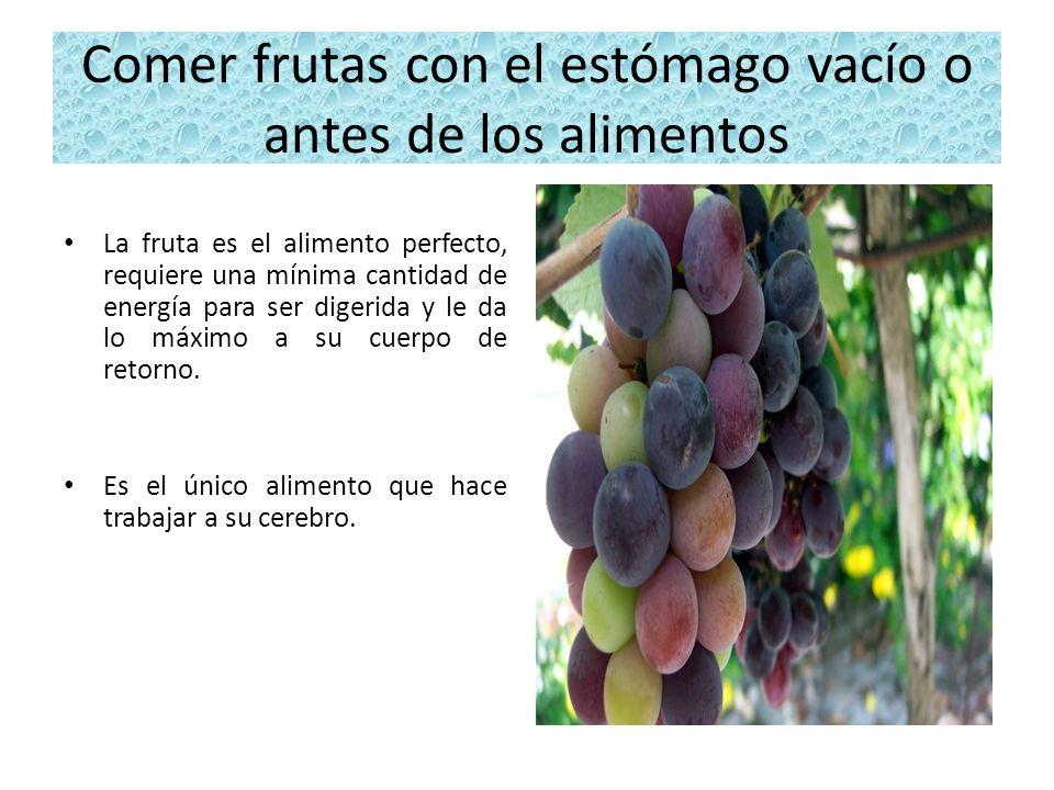 Comer frutas con el estómago vacío o antes de los alimentos