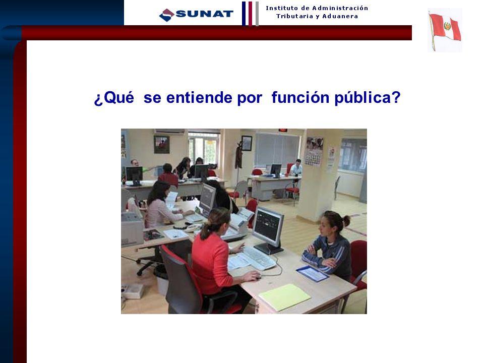 ¿Qué se entiende por función pública