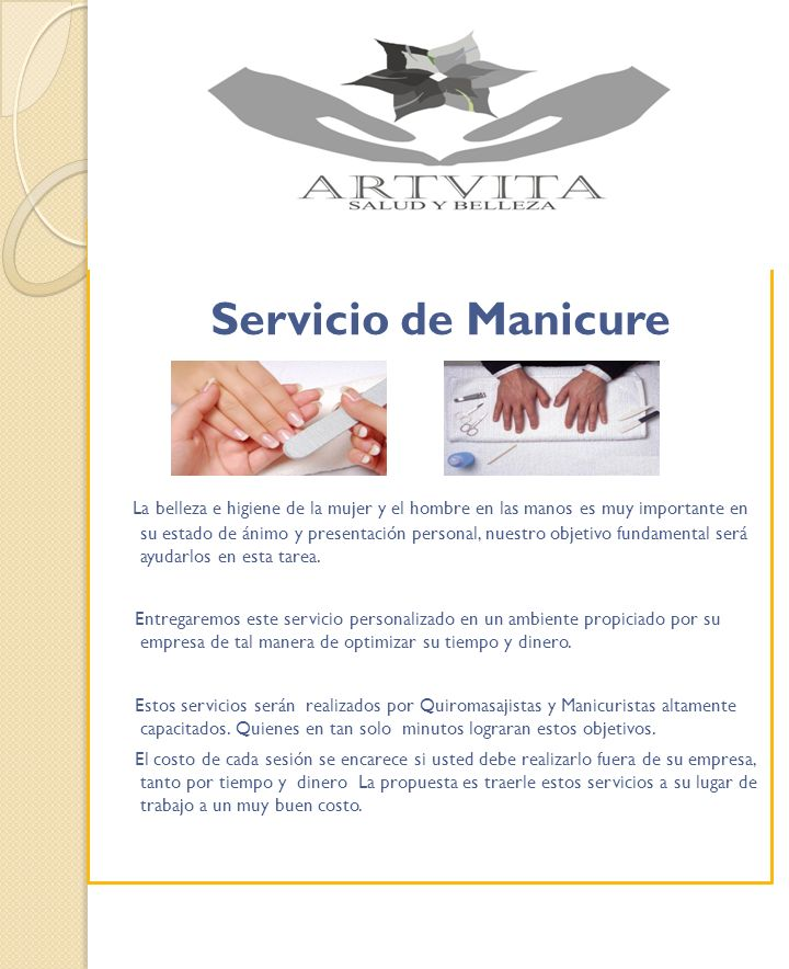 Servicio de Manicure