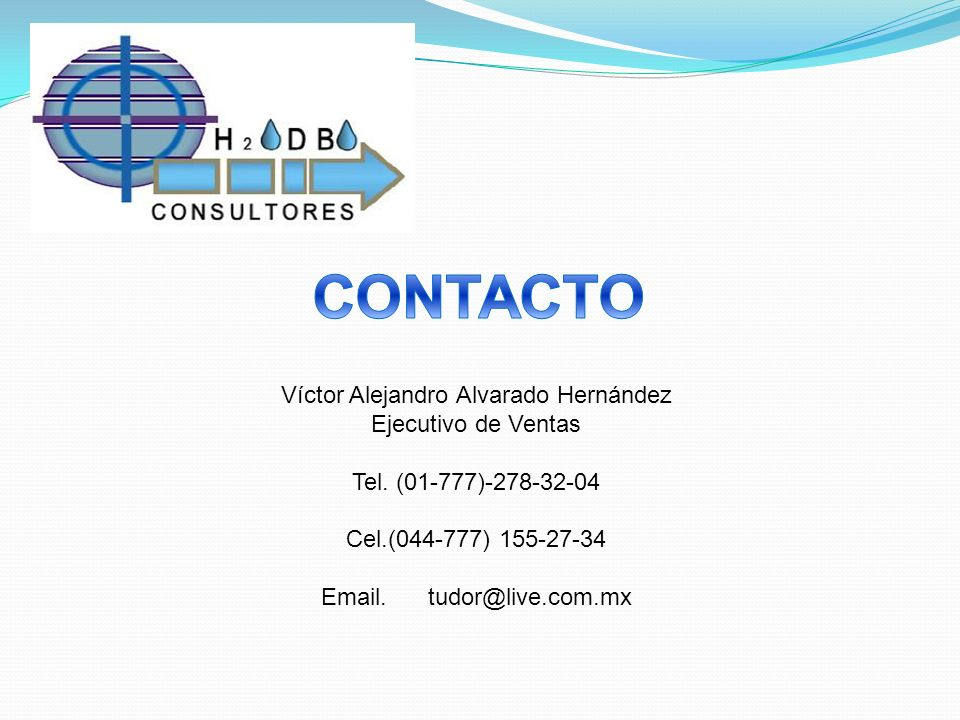 CONTACTO Víctor Alejandro Alvarado Hernández Ejecutivo de Ventas