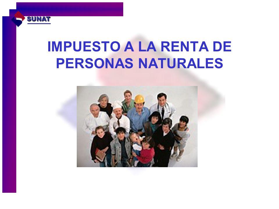 IMPUESTO A LA RENTA DE PERSONAS NATURALES