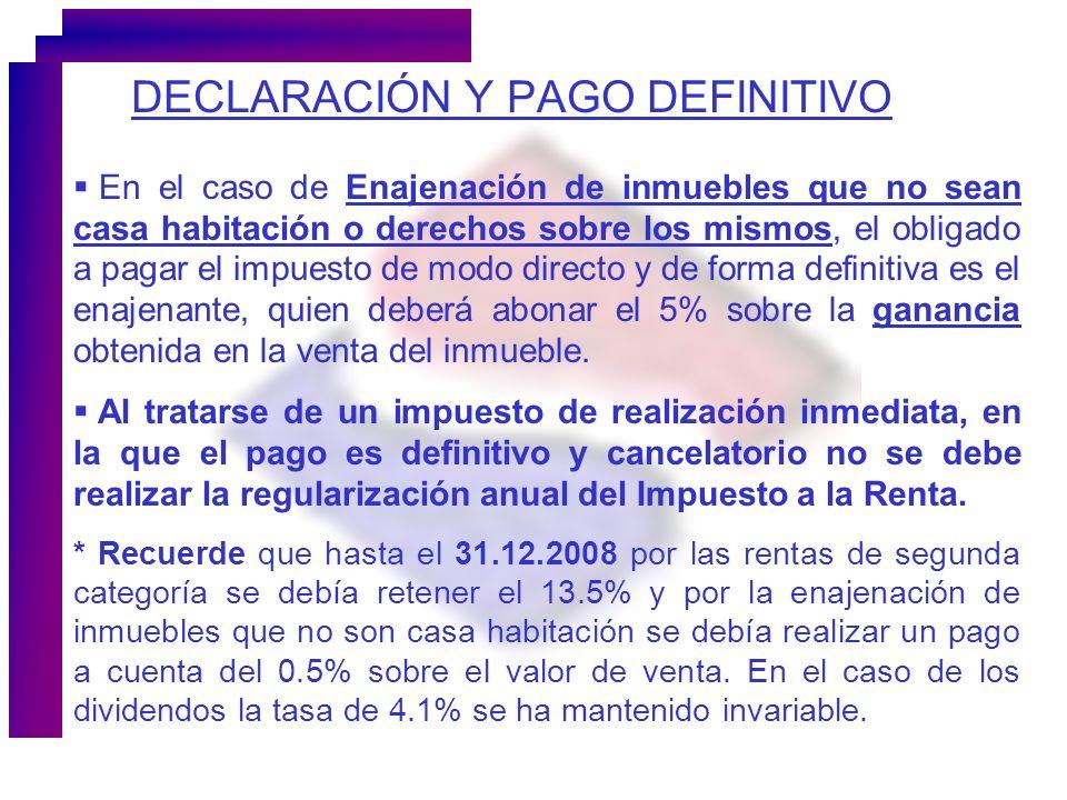 DECLARACIÓN Y PAGO DEFINITIVO