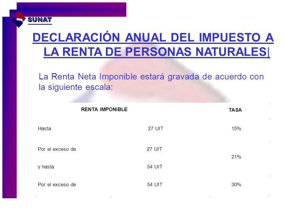 DECLARACIÓN ANUAL DEL IMPUESTO A LA RENTA DE PERSONAS NATURALES|