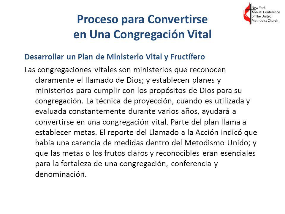 Proceso para Convertirse en Una Congregación Vital