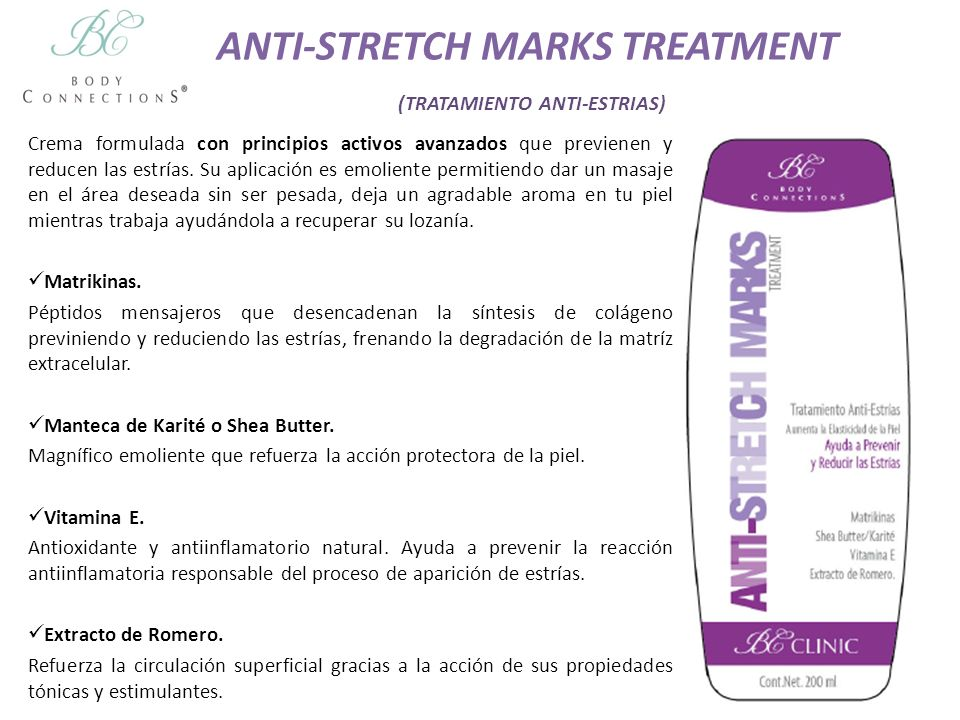 ANTI-STRETCH MARKS TREATMENT (TRATAMIENTO ANTI-ESTRIAS)