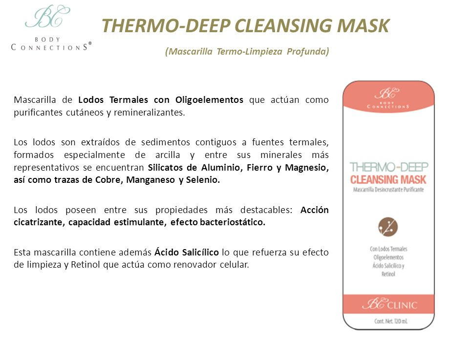 THERMO-DEEP CLEANSING MASK (Mascarilla Termo-Limpieza Profunda)