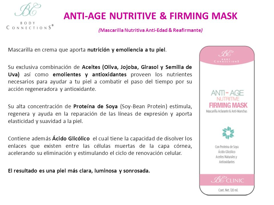 ANTI-AGE NUTRITIVE & FIRMING MASK