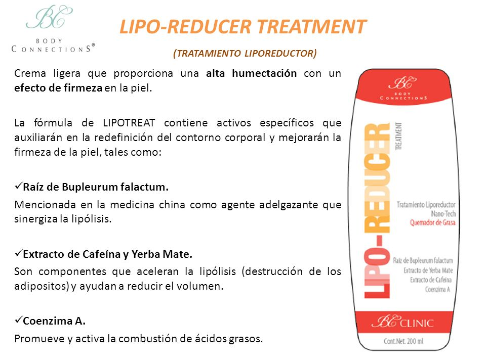 LIPO-REDUCER TREATMENT (TRATAMIENTO LIPOREDUCTOR)