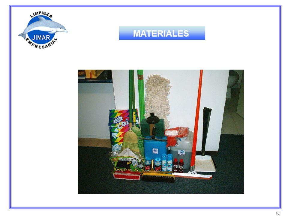MATERIALES 10.