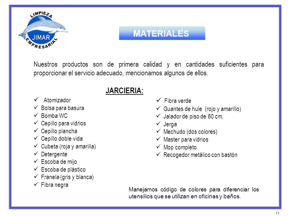 MATERIALES JARCIERIA:
