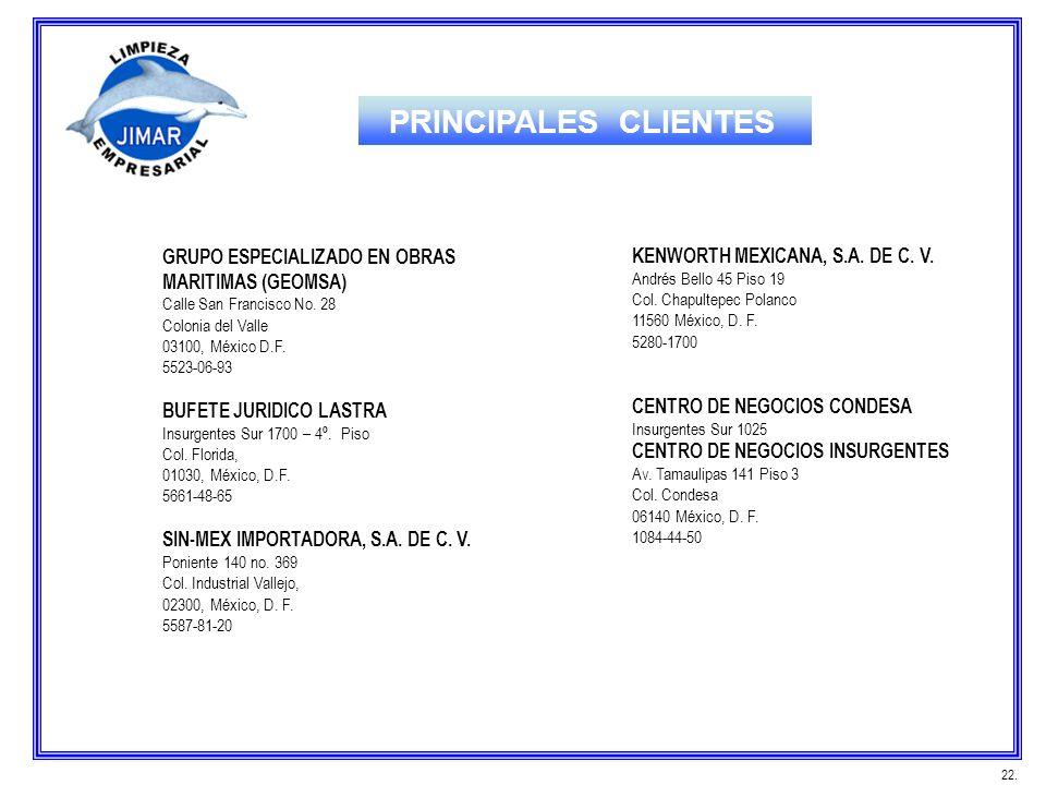 PRINCIPALES CLIENTES GRUPO ESPECIALIZADO EN OBRAS