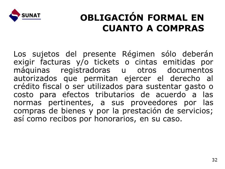OBLIGACIÓN FORMAL EN CUANTO A COMPRAS