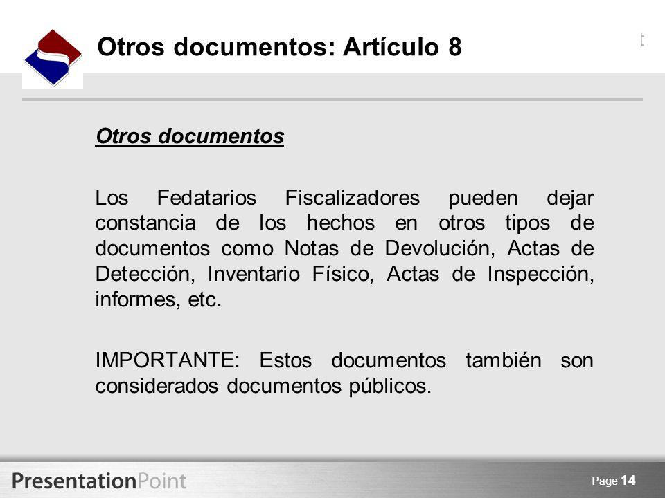 Otros documentos: Artículo 8